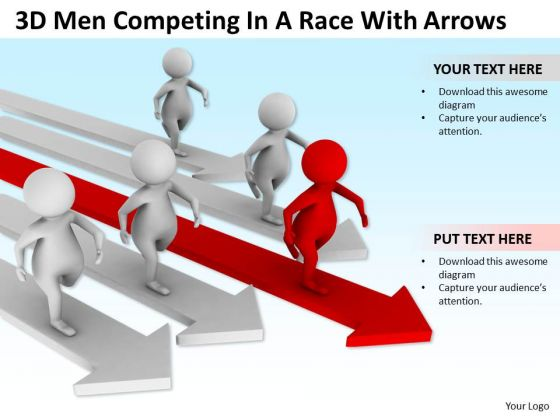 Business People Pictures A Race With Arrowes PowerPoint Templates Ppt Backgrounds For Slides