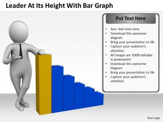 Business People Pictures Its Height With Bar Graph PowerPoint Templates Ppt Backgrounds For Slides