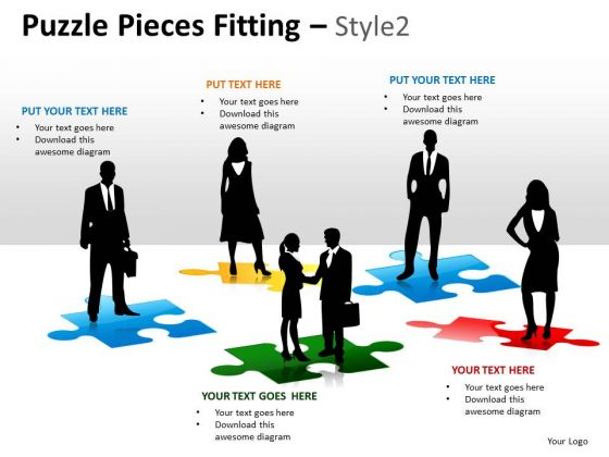 Business People Puzzle Pieces Fitting PowerPoint Slides And Ppt Diagram Templates