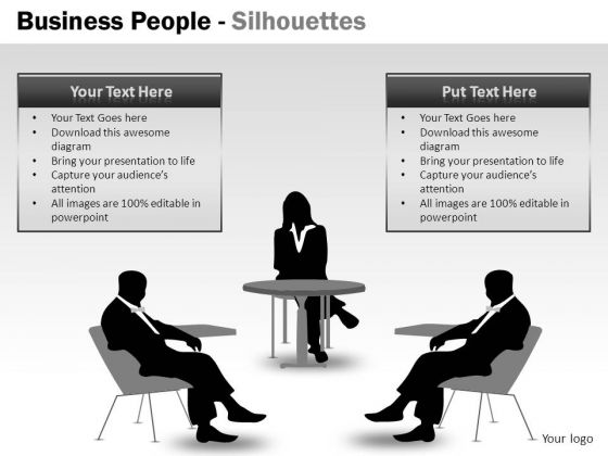 Business People Silhouettes PowerPoint Slides And Business Leaders Ppt Templates