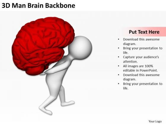 Business People Vector 3d Man Brain Backbone PowerPoint Templates Ppt Backgrounds For Slides