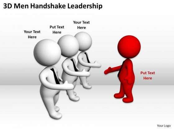 Business People Vector 3d Men Handshake Leadership PowerPoint Templates Ppt Backgrounds For Slides