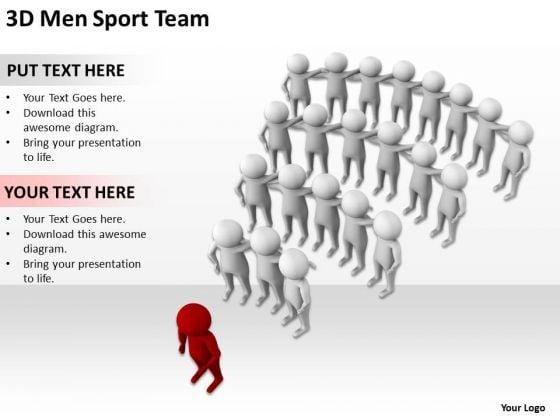 Business People Vector 3d Men Sport Team PowerPoint Slides