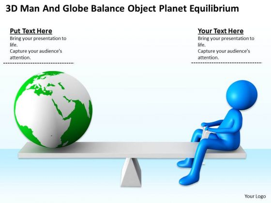 Business People Vector Object Planet Equilibrium PowerPoint Templates Ppt Backgrounds For Slides