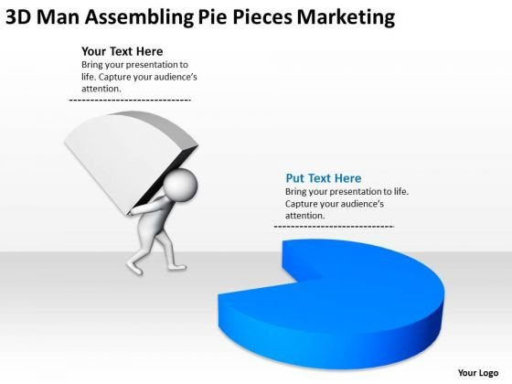 Business People Vector Pie Pieces Marketing PowerPoint Templates Ppt Backgrounds For Slides