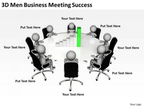 Business People Vector Templates Meeting Success PowerPoint Ppt Backgrounds For Slides