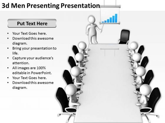Business People Walking 3d Men Presenting Pressentation PowerPoint Templates