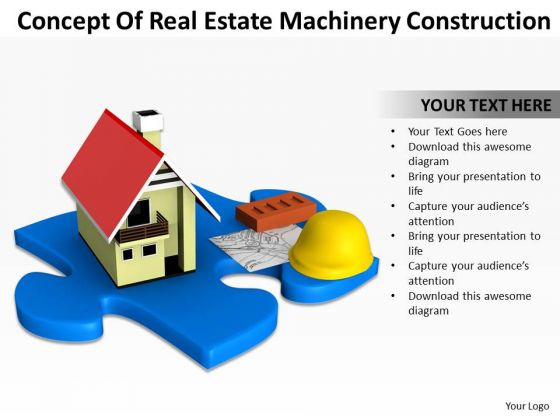 Business People Walking Concept Of Real Estate Machinery Construction PowerPoint Templates