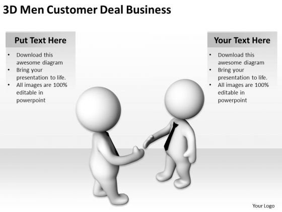 Business People Walking Men Customer Deal PowerPoint Templates Download Slides