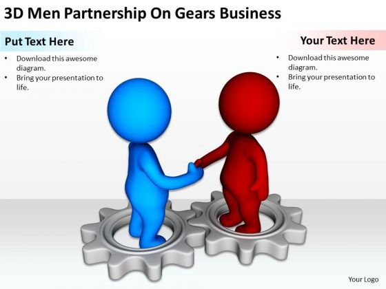 Business People Walking On Gears PowerPoint Templates Free Download