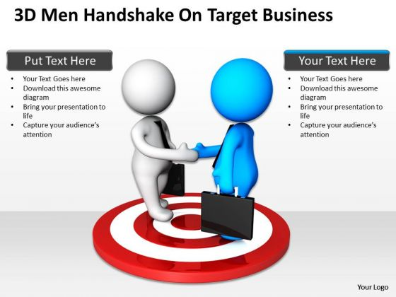 Business People Walking On Target PowerPoint Templates Free Download Slides