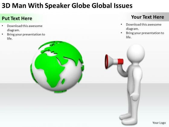 Business People Walking Speaker Globe Global Issues PowerPoint Templates Ppt Backgrounds For Slides
