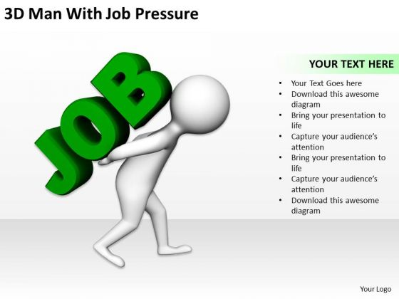 Business Persons 3d Man With Job Pressure PowerPoint Templates Ppt Backgrounds For Slides