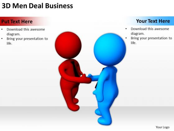 Business Persons 3d Men Deal PowerPoint Theme Slides