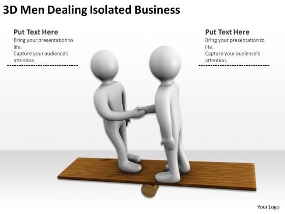 Business Persons 3d Men Dealing Isolated PowerPoint Theme Slides