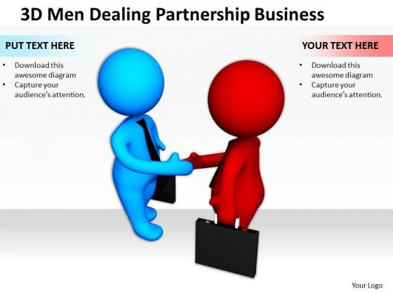 Business Persons 3d Men Dealing Partnership PowerPoint Templates
