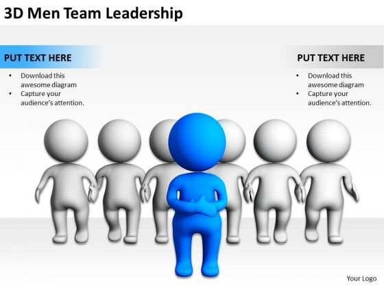 Business Persons 3d Men Team Leadership PowerPoint Templates Ppt Backgrounds For Slides