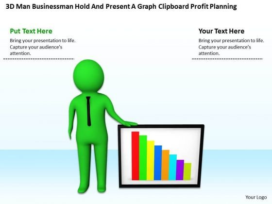 Business Persons A Graph Clipboard Profit Planning PowerPoint Templates Ppt Backgrounds For Slides