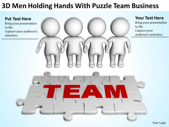 Business Persons Hands With Puzzle Team PowerPoint Templates Download