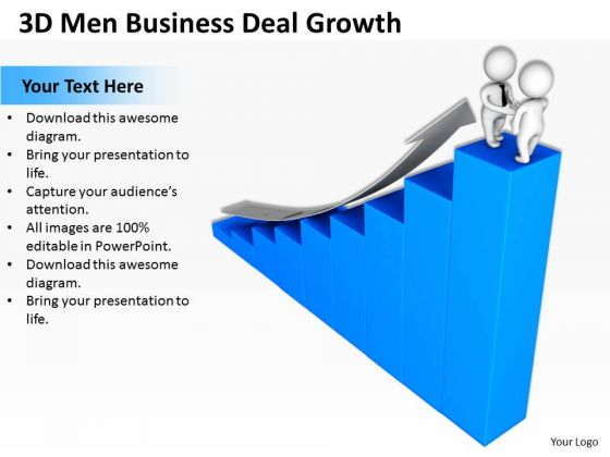 Business Persons Templates Download Deal Growth PowerPoint Ppt Backgrounds For Slides