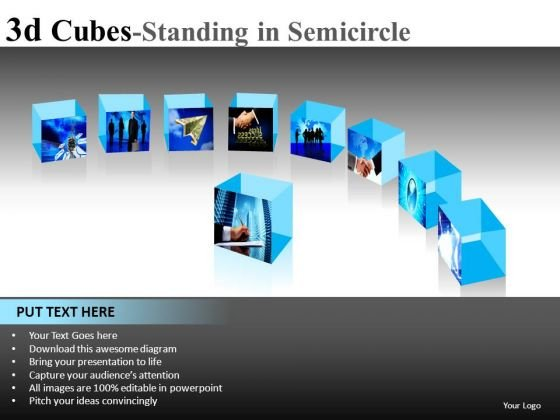 Business Perspectives 3d Cubes Ppt