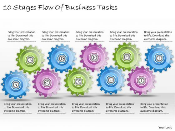 Business Plan And Strategy 10 Stages Flow Of Tasks Strategic Planning Model Ppt Slide