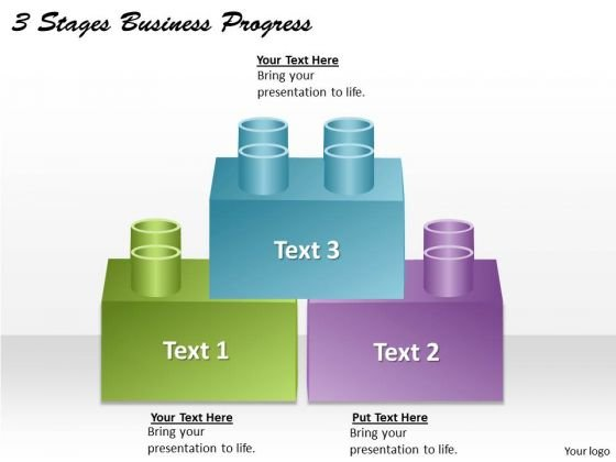 Business Plan And Strategy 3 Stages Progress Strategic Planning Model Ppt Slide