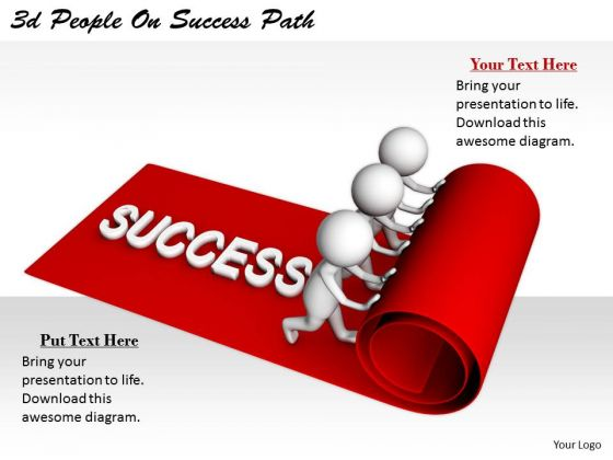 Business Plan And Strategy 3d People On Success Path Character Modeling