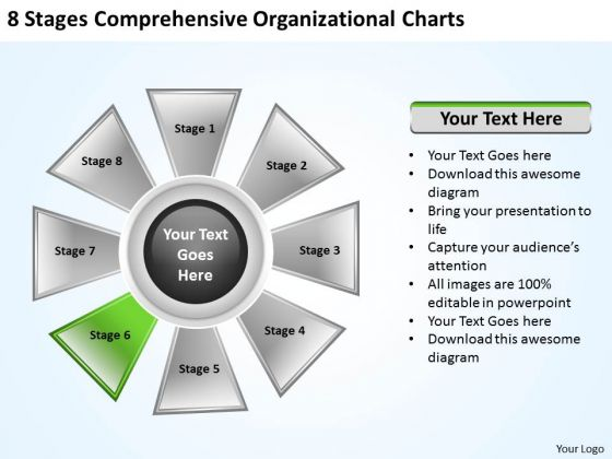 Business Plan And Strategy 8 Stages Comprehensive Organizational Charts Marketing Concepts
