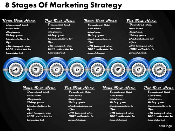 Business Plan And Strategy 8 Stages Of Marketing Strategic Planning Process Ppt Slide