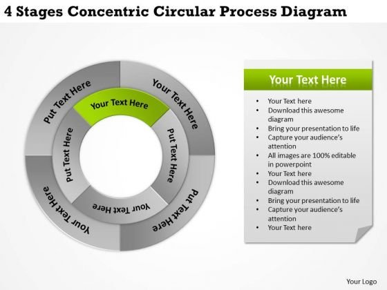 Business Plan And Strategy Concentric Circular Process Diagram Policy