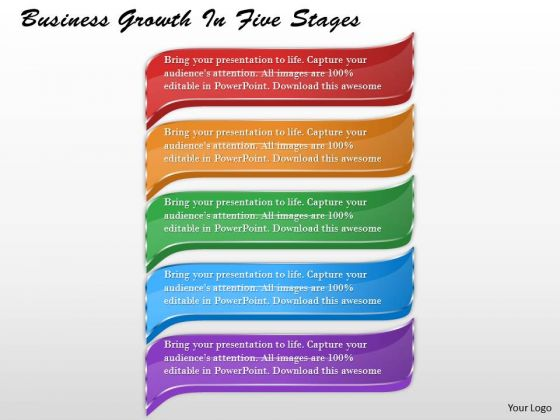 Business Plan And Strategy Growth Five Stages Strategic Planning Process Ppt Slide