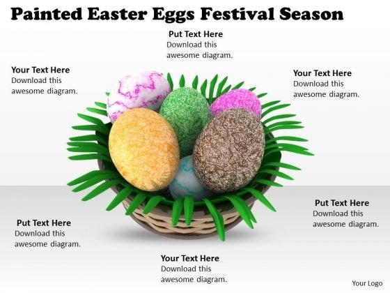 Business Plan And Strategy Painted Easter Eggs Festival Season Images Graphics