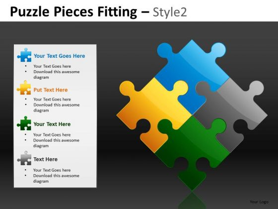 Business Plan Components Puzzles PowerPoint Slides And Editable Ppt