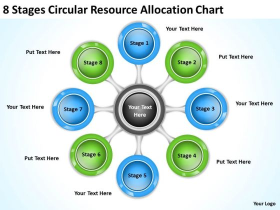 Business Plan Diagram 8 Stages Circular Resource Allocation Chart PowerPoint Slides