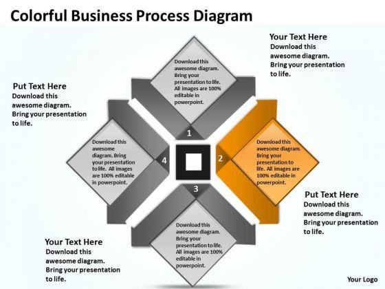 Business Plan Diagram Presentation Process Templates 2007 PowerPoint