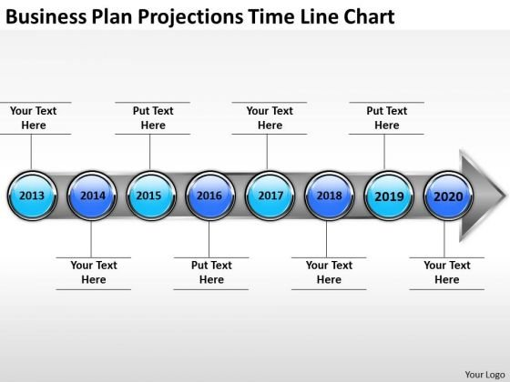 Business Plan Projections Time Line Chart PowerPoint Templates Ppt Slides Graphics