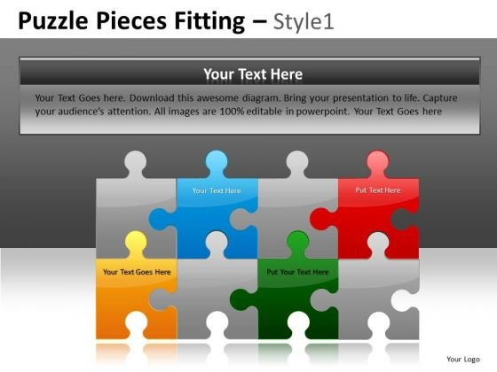 Business Plan Puzzle PowerPoint Slides And Editable Puzzles Ppt