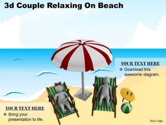 Business Plan Strategy 3d Couple Relaxing On Beach Concept Statement