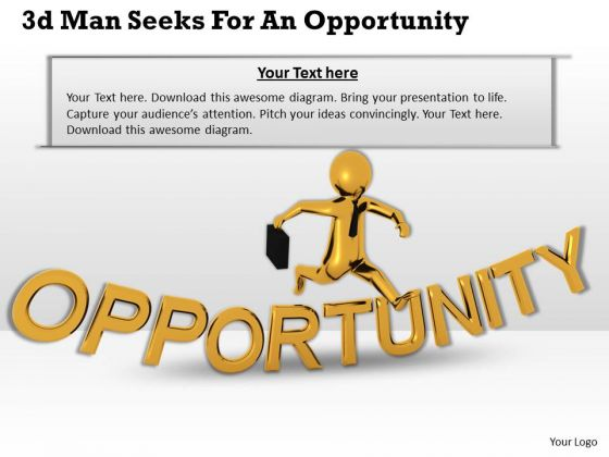 Business Plan Strategy 3d Man Seeks For Opportunity Character Models