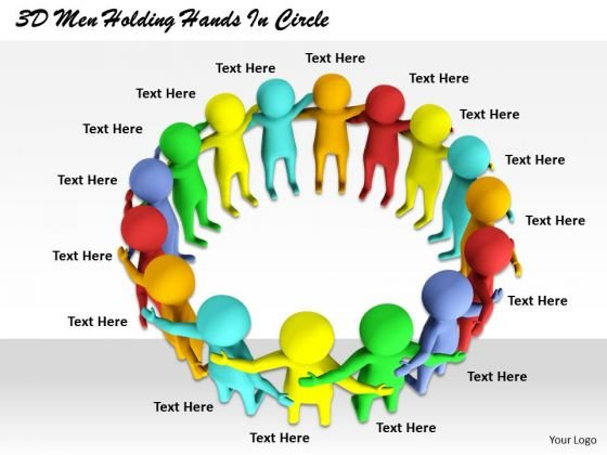 Business Plan Strategy 3d Men Holding Hands Circle Concepts