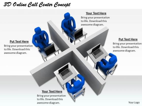 Business Plan Strategy 3d Online Call Center Concept Concepts