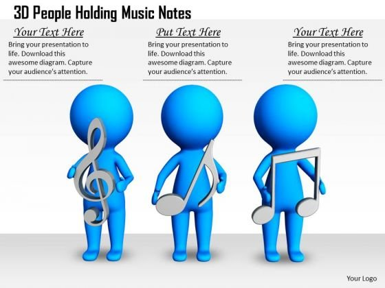 Business Plan Strategy 3d People Holding Music Notes Concepts