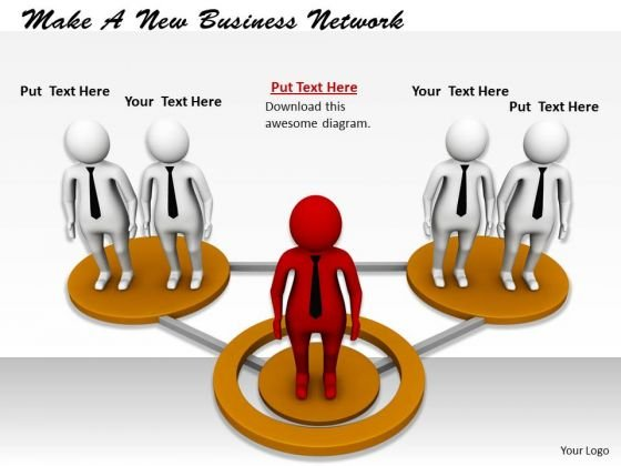 Business Plan Strategy Make New Network Concept