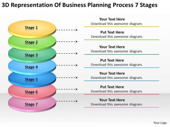 Business Planning Process 7 Stages Non Profit Plans PowerPoint Templates