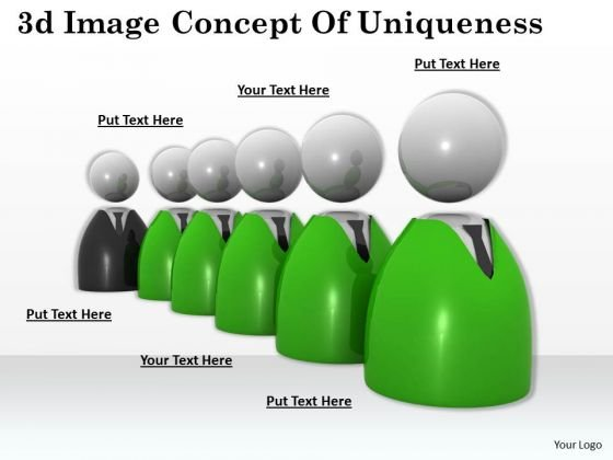 Business Planning Strategy 3d Image Concept Of Uniqueness Statement