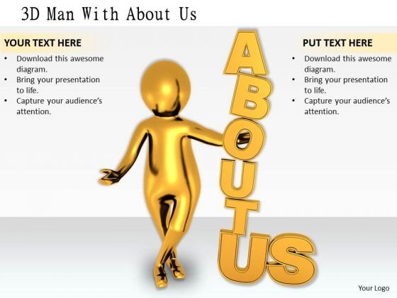 Business Planning Strategy 3d Man With About Adaptable Concepts