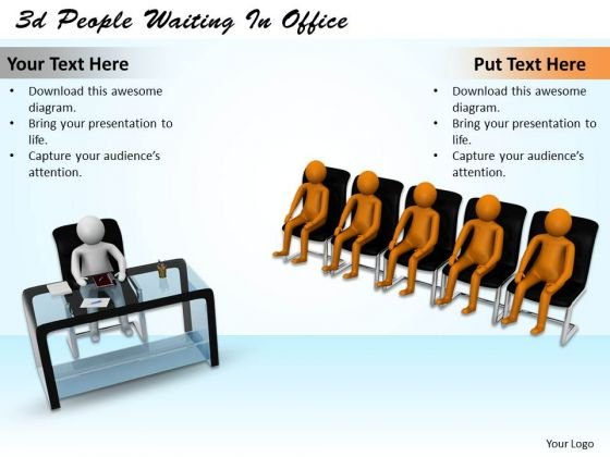 Business Planning Strategy 3d People Waiting Office Character Models