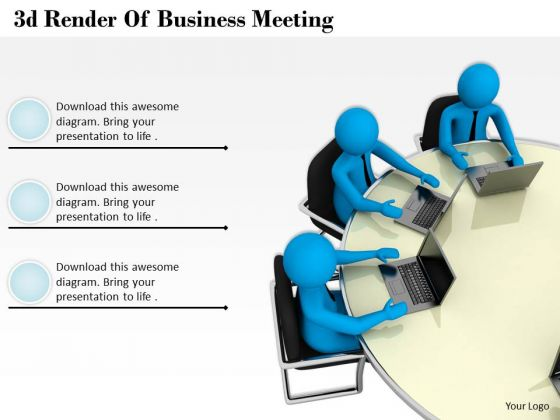Business Planning Strategy 3d Render Of Meeting Characters