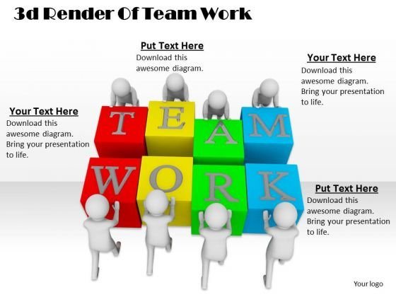 Business Planning Strategy 3d Render Of Team Work Characters